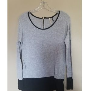 Tops - Grey and black sweater top